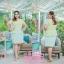 4 Size= M,L,XL,2XL ชุดเดรสเสื้อผ้าคอตตอลปักไหมญี่ปุ่นผ้านำเข้า สีเขียวปักฉลุสวยมาก แต่งระบายด้านข้างรอบสะโพก กระโปรงผ้า Varantino thumbnail 5