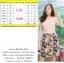 M, 3XL ,5XL ชุดเดรส-ชุดเดรสไซส์ใหญ่ เสื้อผ้าชีฟอง สีโอรส คอจับจีบ ขอบเอวแต่งสีขาว กระโปรง ผ้า Hanako thumbnail 4