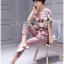 Lady Ribbon's Made Lady Jennifer Floral Printed Top and Pink Ribbon Pants Set thumbnail 5