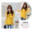 เสื้อแฟชั่น คอปกสีดำ แขนยาว ผ้ายืด เสื้อสีเหลือง รหัส 44111-เหลือง thumbnail 5