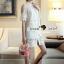 Seoul Secret Say's... Open Shiulder Lace Furnish Shirt Dress thumbnail 5