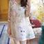 Korea Design By Lavida sweety floral printed feminine cream dress thumbnail 4