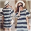 Lady Catherine Colourful Striped Lace Dress with Ruffled Sleeves thumbnail 2