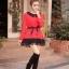 เสื้อแฟชั่น แขนยาว สีดำ รหัส 43936-แดง thumbnail 9