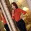 เสื้อทำงาน คอเต่า แขนยาว ผ้าฝ้ายผสมชีฟอง ทรงเข้ารูป เสื้อทำงานสีส้ม รหัส 73992-ส้ม thumbnail 2
