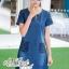 Korean lady love denim jeans short sleeve dress by Aris Code thumbnail 1