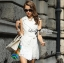 Lady Ribbon's Made Lady Natasha Sophisticated Sleeveless Lace Trench Shirt Dress thumbnail 4