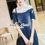 Seoul Secret Say's... Lacely Colar Denim Dress สีเข้ม thumbnail 3