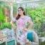 5XL ชุดเดรสสาวอวบ++ผ้าkorea print ทอลายดอกโทนสีชมพู จุดเด่นของชุดนี้ ดีไซน์กั๊กสุดเก๋ ติดโบว์ thumbnail 10