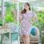 XL,3XL,5XL ชุดเดรสสาวอวบ++ผ้า Canvas TM พื้นม่วงลายดอก จุดเด่นของชุดนี้ ดีไซน์คอวีสุดเก๋ thumbnail 14