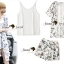 Seoul Secret Say's... Saphirely Blue Blosssom Print Chill Outer Chic Set thumbnail 5
