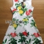 Lady Ribbon's Made Lady Rosie English Roses Printed White Sleeveless Dress thumbnail 8
