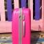 กระเป๋าเดินทางไฟเบอร์ 4 ล้อ ขนาด 24 นิ้ว สีชมพูบานเย็น thumbnail 3