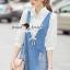 Seoul Secret Say's .... Roppy Pinstripe Denim Shirt Dress thumbnail 4