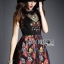 Lady Ribbon's Made Lady Modern Hippie Floral Embroidered and Printed Dress thumbnail 4