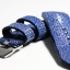 Blue Genuine Leather Middle Center Back Stingray Leather Watch Strap Pam Buckle 24/20 mm thumbnail 5