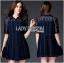 Lady Ribbon's Made Lady Jenette Smart Sexy Insert Lace Denim Shirt Dress thumbnail 4