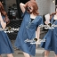 Seoul Secret Say's .... Sequinny V Furnish Denim Dress thumbnail 5