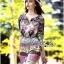 Lady Ribbon's Made Lady Florence Hippie Chic Printed Satin Dress thumbnail 2