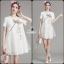 Korea Design By Lavida elegant dragonfly embroidered white premium dress thumbnail 2