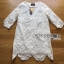 Lady Ribbon's Made Lady Jen Feminine Laser-Cut and Embroidered Lace Dress in White thumbnail 5