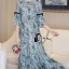 Cliona Made' Provence Floral Line Long Dress thumbnail 8