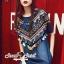 Seoul Secret Say's...Indian Girl Color Stickly Denim Blouse thumbnail 4
