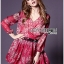 Lady Ribbon's Made Lady Estelle Summery Colourful Printed Chiffon Dress thumbnail 2