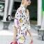 Cliona made' City Life Print Over Size Shirt Dress thumbnail 1