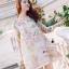 Korea Design By Lavida sweety floral printed feminine cream dress thumbnail 1