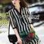Lady Ribbon's Made Lady Marina Striped and Floral Printed Chiffon Shirt Dress thumbnail 4