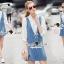 Seoul Secret Say's .... Roppy Pinstripe Denim Shirt Dress thumbnail 6