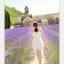 44907-ขาว ชุดเดรสสั้นสีขาว หน้าอกเย็บระบาย สวยเก๋ เปิดไหล่ สวยหวาน thumbnail 5