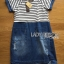 Lady Miranda Casual Minimal Striped and Denim Dress thumbnail 6