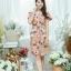 XL777ชุดเดรสผ้า Canvas พื้นส้มลายดอก แต่งปก กระเป๋า ติดโบว์ ผ้าสีขาว เพิ่มความน่ารักให้กับชุด thumbnail 8