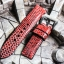 Metal Red Genuine Leather Back Lizard Leather Watch Strap Pam Buckle 24 mm thumbnail 8