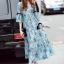 Cliona Made' Provence Floral Line Long Dress thumbnail 3