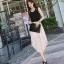 ชุดเดรสยาวสีดำ แขนกุด ผ้าชีฟอง เอวยืด มีซับใน thumbnail 6