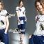 Seoul Secret Say's... Buggy Lace Stick Saphire Blue Lace Pants Set thumbnail 6