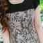 ชุดเดรส-ไซส์เล็ก-ไซส์ใหญ่ เดรสผ้า Hana สีดำ ผ้าเนื้อดี ผ้าหนาระดับ 3 มีความยืดหยุ่น ปูทับด้วยผ้าลูกไม้ญี่ปุ่น thumbnail 7