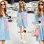Seoul Secret Say's... Pastel Fink Paint Denim Dress thumbnail 5