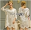 Lady Ribbon's Made Lady Jen Feminine Laser-Cut and Embroidered Lace Dress in White thumbnail 2