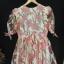 vintage dress :ออริจินอลวินเทจ ผ้าแก้วพิมพ์ลาย แพทเทิร์นเข้ารูป แต่งซิบหลัง พร้อมซับในเต็มตัว thumbnail 2