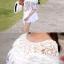 Korean ethnic stitching lace mini dress thumbnail 5