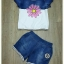 Sweet Bunny Present... Cold Shoulder Denim Shorts Set thumbnail 5
