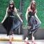 Sevy Moshino Pleat Chiffon Long Skirt thumbnail 1
