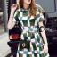Cliona made' Grammy Square Line Shirt Dress thumbnail 3