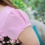 3 Size= XL,3XL,5XL ชุดเดรสสาวอวบ++ผ้า Sanfox พื้นดำ ทอลายดอกชมพู จุดเด่นของชุดนี้ตัดต่อด้านบน และแขนด้วยผ้า Hanako สีชมพู thumbnail 15