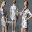 Lady Ribbon's Made Lady Pam Feminine Chinese Blossom Printed Dress thumbnail 3