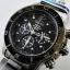 นาฬิกา Seiko Men Chronograph Solar System Driver 100m seiko ssc225P สาย Stainless Black thumbnail 2